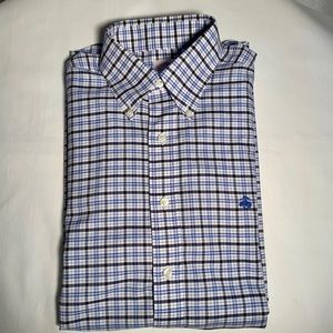 Brooks Brothers 346 Blue Plaid Button Down Size M